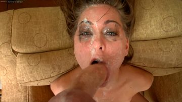 Spit Slobbered Throat Gagging A Cock