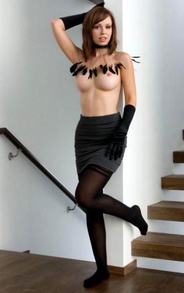 Stockings Brunette Babe Nude Brunettes