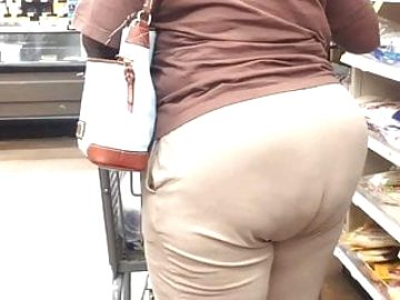 Tall Black Cougar bending that fat Nut Booty 2