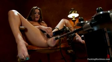 Tori Cums On The Machine, Then On Her Fingers…