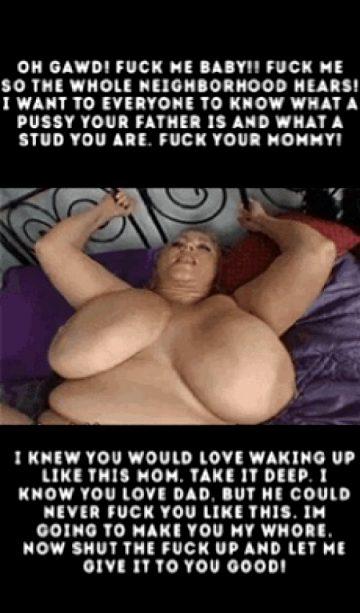 Waking mom up