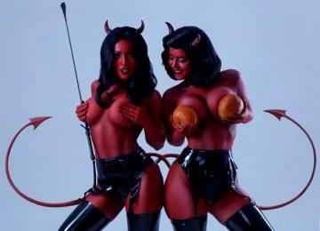 Zoe Volf And Lady Lyumos. Little Devils