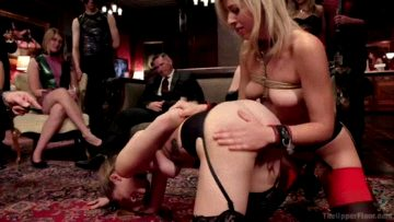 Zoey Monroe And Samantha Hayes – Bombshell Blonde Anal Queen Trains New Slave Girl – Theupperfloor Com